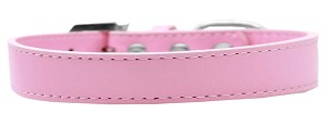 Tulsa Plain Dog Collar Light Pink Size 16