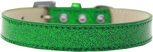 Tulsa Plain Ice Cream Dog Collar Emerald Green Size 14