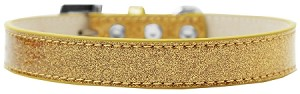 Tulsa Plain Ice Cream Dog Collar Gold Size 14