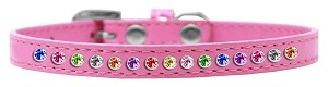 One Row Confetti Size 16 Bright Pink Puppy Collar