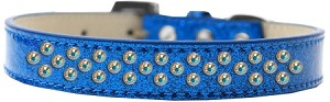 Sprinkles Ice Cream Dog Collar AB Crystals Size 14 Blue