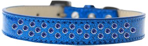 Sprinkles Ice Cream Dog Collar Blue Crystals Size 16 Blue