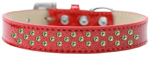Sprinkles Ice Cream Dog Collar Lime Green Crystals Size 12 Red