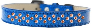 Sprinkles Ice Cream Dog Collar Orange Crystals Size 18 Blue