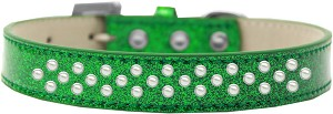 Sprinkles Ice Cream Dog Collar Pearls Size 14 Emerald Green