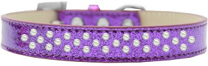 Sprinkles Ice Cream Dog Collar Pearls Size 12 Purple