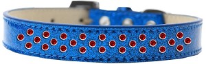 Sprinkles Ice Cream Dog Collar Red Crystals Size 12 Blue