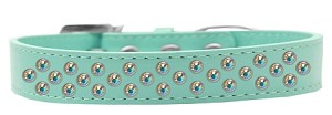 Sprinkles Dog Collar AB Crystals Size 14 Aqua