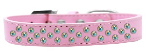 Sprinkles Dog Collar AB Crystals Size 14 Light Pink