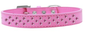 Sprinkles Dog Collar Bright Pink Crystals Size 14 Bright Pink