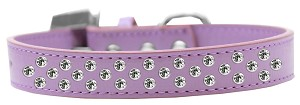 Sprinkles Dog Collar Clear Crystals Size 14 Lavender