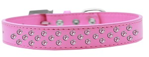 Sprinkles Dog Collar Light Pink Crystals Size 14 Bright Pink