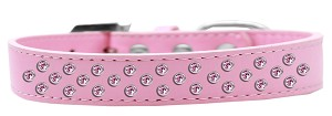 Sprinkles Dog Collar Light Pink Crystals Size 14 Light Pink