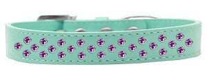 Sprinkles Dog Collar Purple Crystals Size 18 Aqua