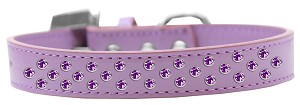 Sprinkles Dog Collar Purple Crystals Size 14 Lavender