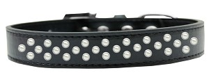 Sprinkles Dog Collar Pearls Size 16 Black
