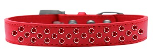 Sprinkles Dog Collar Red Crystals Size 18 Red