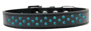 Sprinkles Dog Collar Southwest Turquoise Pearls Size 14 Black