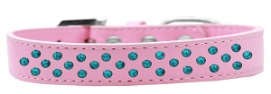 Sprinkles Dog Collar Southwest Turquoise Pearls Size 12 Light Pink