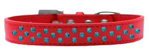 Sprinkles Dog Collar Southwest Turquoise Pearls Size 18 Red