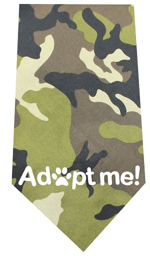 Adopt Me Screen Print Bandana Green Camo