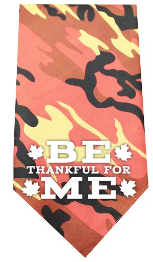 Be Thankful for Me Screen Print Bandana Orange Camo