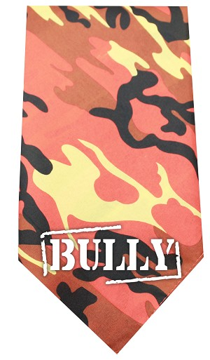 Bully Screen Print Bandana Orange Camo