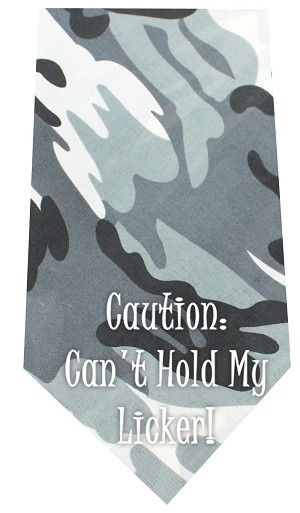Cant Hold Licker Screen Print Bandana Grey Camo