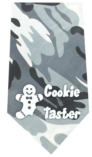 Cookie Taster Screen Print Bandana Grey Camo