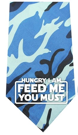 Hungry I Am Screen Print Bandana Blue Camo