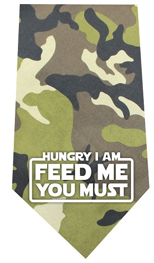 Hungry I Am Screen Print Bandana Green Camo