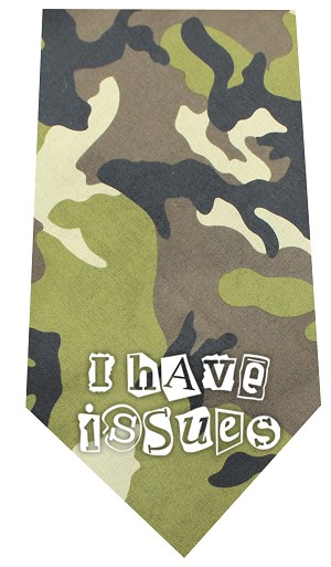 I Have issues Screen Print Bandana Green Camo