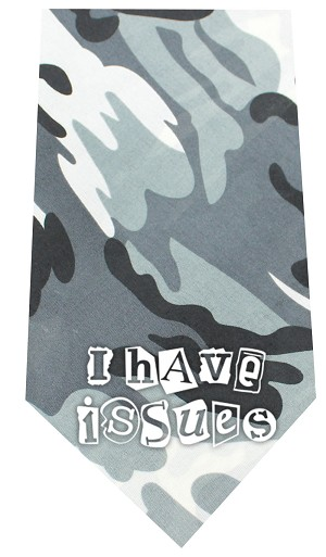 I Have issues Screen Print Bandana Grey Camo