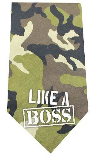 Like a Boss Screen Print Bandana Green Camo