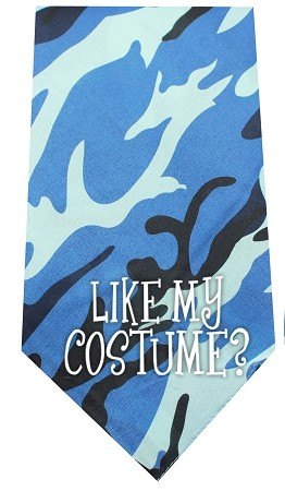 Like my Costume Screen Print Bandana Blue Camo