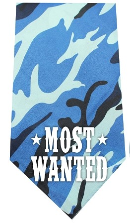 Most Wanted Screen Print Bandana Blue Camo