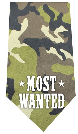 Most Wanted Screen Print Bandana Green Camo