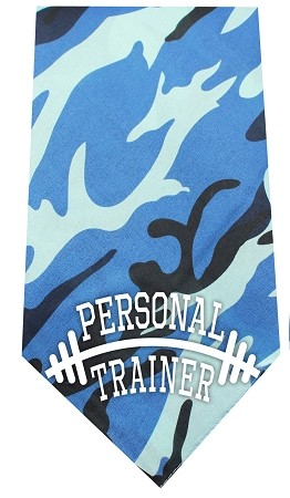 Personal Trainer Screen Print Bandana Blue Camo