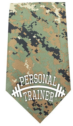 Personal Trainer Screen Print Bandana Digital Camo