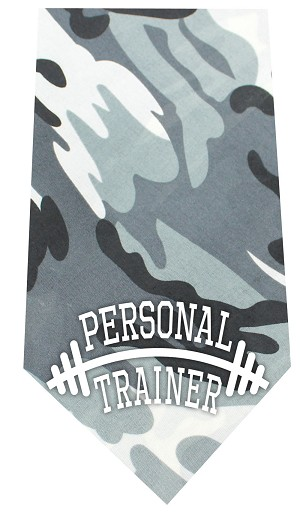 Personal Trainer Screen Print Bandana Grey Camo