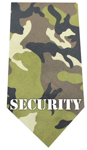 Security Screen Print Bandana Green Camo