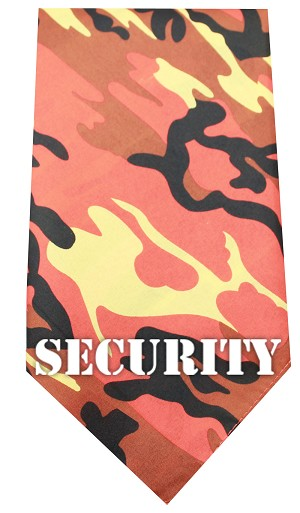 Security Screen Print Bandana Orange Camo