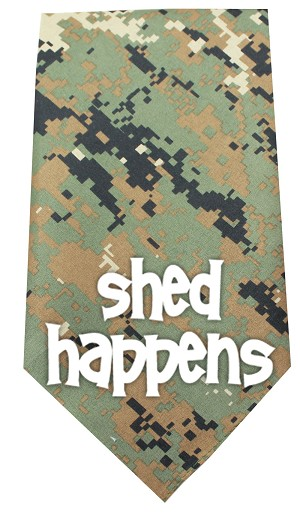 Shed Happens Screen Print Bandana Digital Camo