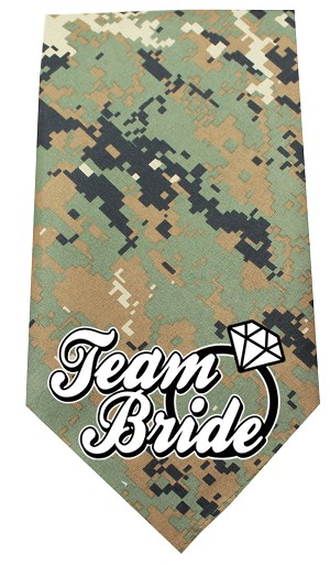 Team Bride Screen Print Bandana Digital Camo