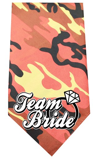 Team Bride Screen Print Bandana Orange Camo