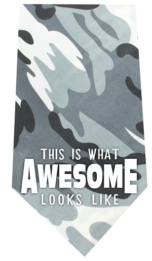 This is what Awesome Looks Like Screen Print Bandana Grey Camo