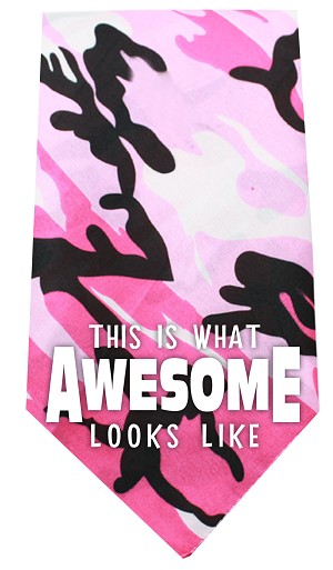 This is what Awesome Looks Like Screen Print Bandana Pink Camo