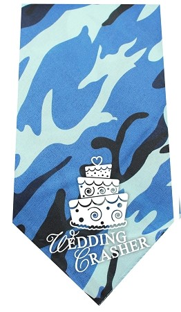Wedding Crasher Screen Print Bandana Blue Camo