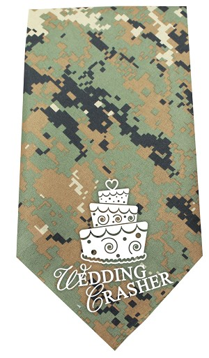 Wedding Crasher Screen Print Bandana Digital Camo