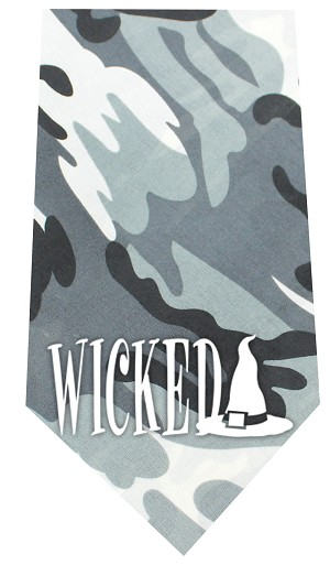 Wicked Screen Print Bandana Grey Camo